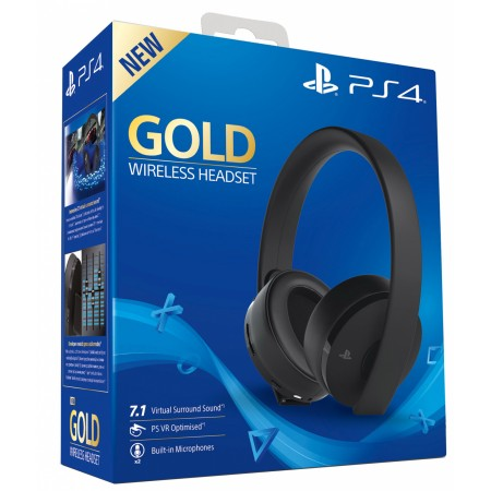 Gold Wireless Headset Sony