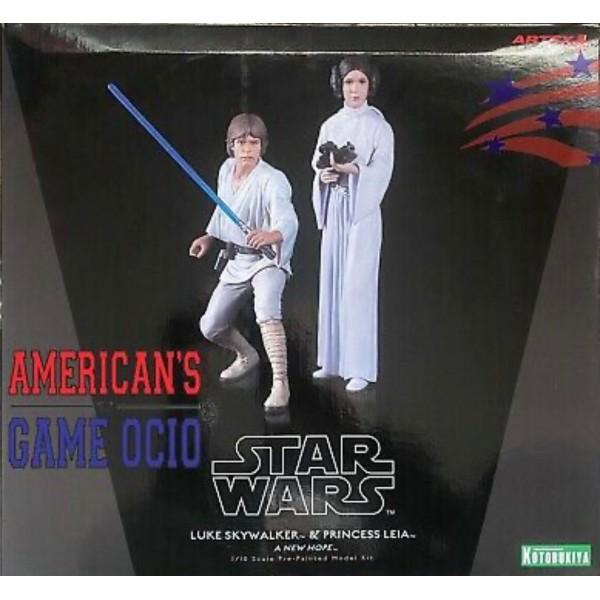Figura Star Wars Luke Skywalker & Princesa Leia A New Hope Kotobukiya