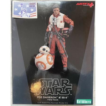 Figura Star Wars Poe Dameron & BB-8 Escala 1:10  Kotobukiya